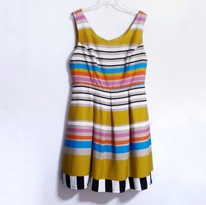 Annalee + Hope striped colorful dress sz 16 lined